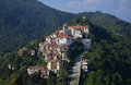 Sacro monte di Varese, Lombardy, Italy. Aerial view Royalty Free Stock Photo