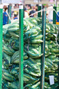 Sacs of corn ready for sale at the market Royalty Free Stock Photo