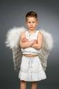 Sad angel Royalty Free Stock Photo
