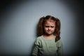 Sad Anger Kid Looking On Dark ...