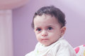 Sad arab baby girl Royalty Free Stock Photo