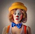 Sad beautiful clown Royalty Free Stock Photo