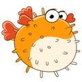 Sad blowfish Royalty Free Stock Photo