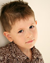 Sad, bored, daydreaming child Royalty Free Stock Photo