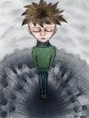 image photo : Sad boy