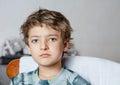 Sad boy looking at camera Royalty Free Stock Photo