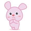 Sad bunny cartoon character collection