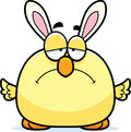 Sad cartoon easter bunny chick a illustration of an looking Royalty Free Stock Photography