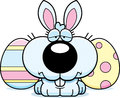 Sad cartoon easter bunny a illustration of the with a expression Royalty Free Stock Images