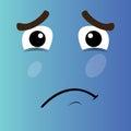 Sad cartoon face