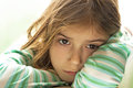 Sad child girl sad face Royalty Free Stock Photography