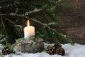 Sad Christmas candle Royalty Free Stock Photo