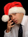 Sad Christmas Man Stock Photography