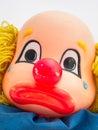 Sad clown face doll head Stock Photo