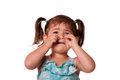 Sad crying Little toddler girl Royalty Free Stock Photo