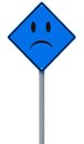 Sad day ahead conceptual road sign implying a blue and Stock Photography