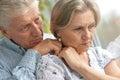Sad elder couple Royalty Free Stock Photo