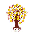 Sad emoticons in the form of fruits on a tree. Royalty Free Stock Photo