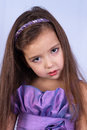 Sad girl and frustration little beautiful Royalty Free Stock Photos