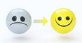 Sad and happy face, feelings