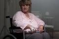 Sad ill retiree Royalty Free Stock Photo