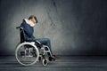 Sad Man In Wheelchair