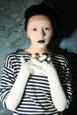 Sad mime Royalty Free Stock Photo