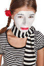 Sad mime portrait Stock Photo