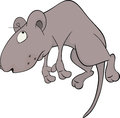 The sad mouse very grey with artful eyes Stock Photography
