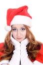 Sad and nice santa isolated on white background Royalty Free Stock Image