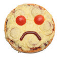 Sad pizza Royalty Free Stock Photo
