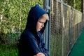Sad upset teenager