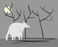 Sad wolf with shadow Royalty Free Stock Photo