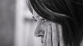 Smutný žena v zoufalství