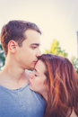 Sad woman hugging her boyfriend women couple problems concept Stock Images