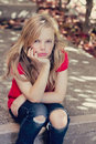 Sad young girl Royalty Free Stock Photos