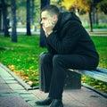 Sad Young Man Royalty Free Stock Photo