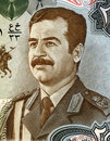 Saddam hussein on dinars banknote from iraq fifth president of iraq during Stock Photo