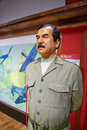 Saddam hussein the photo was taken in madame tussauds hong kong china wax figures Royalty Free Stock Photo