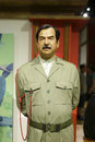 Saddam hussein wax figure in madame tussauds hong kong city Royalty Free Stock Image