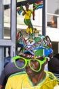 Saddam in Vuvuzela Makaraba - Side 1/3 View Stock Photography