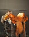 Saddle On Stand Royalty Free Stock Photo