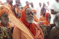 Sadhu holy man nandgaon india november at nand gaon gowshala in nandgaon village devoted his whole life in meditation after wear Royalty Free Stock Photography
