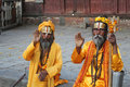 Sadhu (holy men) Royalty Free Stock Photography