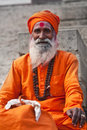 Sadhu in varanasi Stock Photography