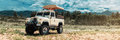 Safari car on offroad ,adventure trail Royalty Free Stock Photo