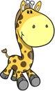 Safari Giraffe Vector Illustration Royalty Free Stock Photo