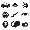 Safari icons this image is a vector illustration and can be scaled to any size without loss of resolution Stock Images