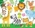 Safari Jungle Animal Vector Illustration Royalty Free Stock Photo