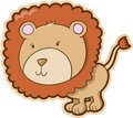 Safari Lion Vector Royalty Free Stock Photo